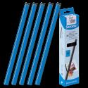 25 baguettes à relier SERODO A4 6 mm - Bleues
