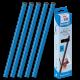 25 baguettes à relier sans machine SERODO A4 6 mm de couleur bleu