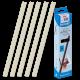 25 baguettes à relier SERODO A4 3mm couleur Ivoire