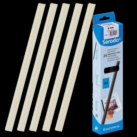 25 baguettes à relier SERODO A4 - 9 mm de couleur Ivoire