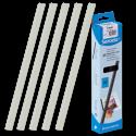 25 baguettes à relier SERODO A4 6 mm - Transparentes