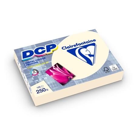 125 feuilles de papier ivoire A4 DCP 250gr/m² de Clairefontaine
