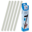 25 baguettes à relier SERODO A4 - 12 mm - Transparentes
