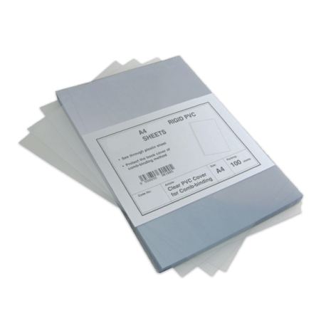 100 Plats couverture PVC 300 microns brillants