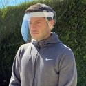 Visière complète de protection du visage en PVC Cristal