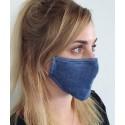 Masque individuel de protection grand public en tissu Bleu foncé