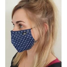 Masque individuel de protection en tissu grand public Bleu motif Etoiles