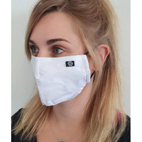 Masque individuel de protection en tissu grand public Blanc