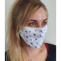 Masque de protection en tissu grand public Blanc motif Navires