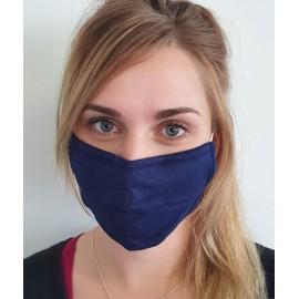 Masque individuel de protection en tissu grand public Bleu marine