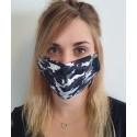 Masque individuel de protection en tissu grand public motif camouflage