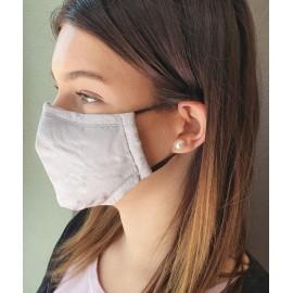 Masque individuel de protection en tissu grand public gris
