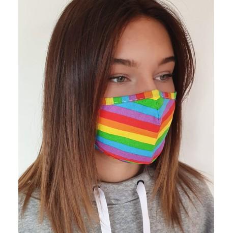 Masque individuel de protection en tissu grand public Arc en ciel