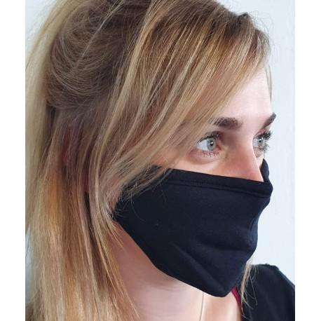 Masque individuel de protection en tissu grand public Noir
