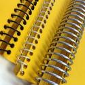 100 Spirales métalliques Coil 12 mm 34 boucles - Pas 3:1