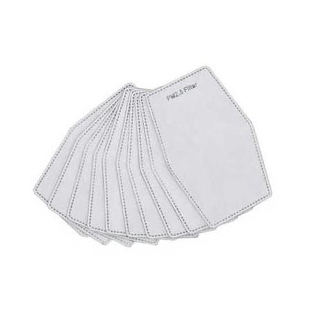 lot de 5 filtres jetables papier et charbon actif pour maques - 5 couches