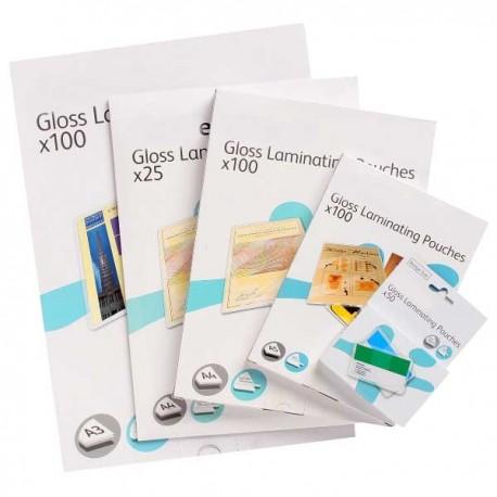 100 Pochettes plastification A4 125 microns par face perforées brillantes