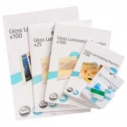 100 Pochettes plastification A4 80 microns 1 face Adhésive