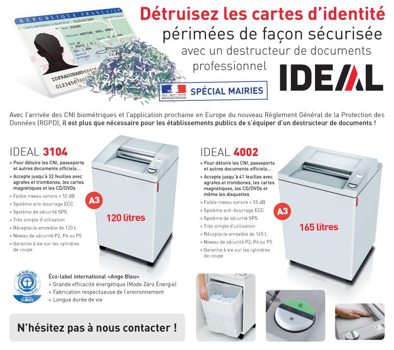Mairies : détruire les cartes d'identité périmées de façon sécurisée