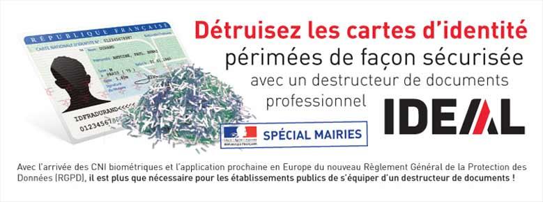 Destructeurs spécial Mairies