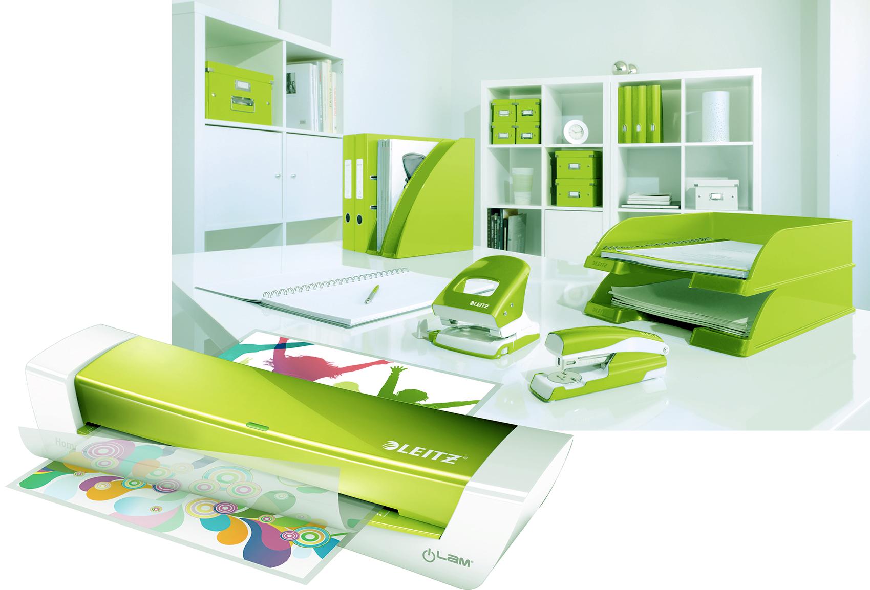 La Plastifieuse A4 Ilam Home Office vert est une machine à plastifier A4 moderne et rapide