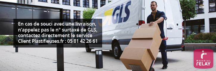 Livraison des commandes de plastification par GLS France