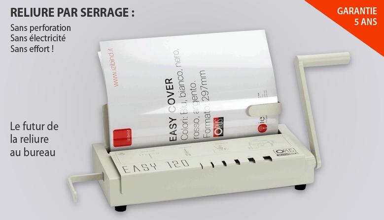 Relieur par serrage Easy 120 - reliure pression manuelle
