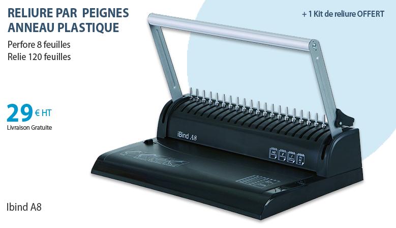 Ibind A8 - Relieur plastique + Kit de Reliure