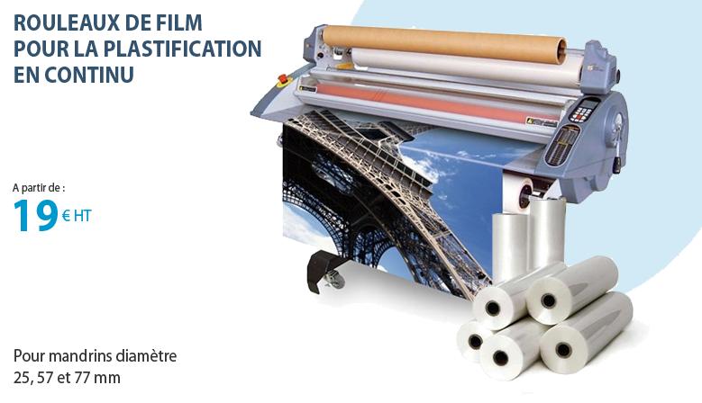 Rouleaux de film pour la plastification en continu