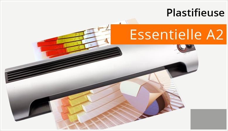 L'Essentielle A2 est une plastifieuse à pochettes à chaud pour un usage de bureau