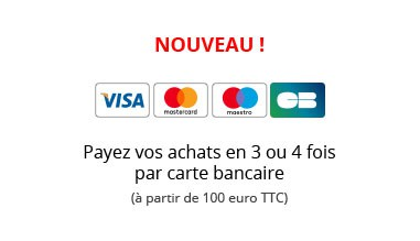 Nouveau : payez vos achats en 3 ou 4 fois par carte bancaire